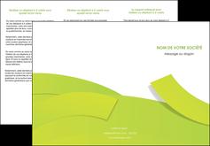 Commander Plaquette entreprise Espaces verts modèle graphique pour devis d'imprimeur Dépliant 6 pages pli accordéon DL - Portrait (10x21cm lorsque fermé)