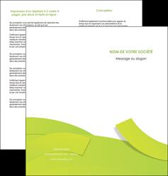 cree depliant 2 volets  4 pages  espaces verts vert vert pastel colore MLIG57258