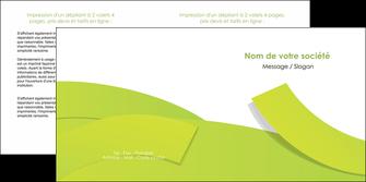 imprimer depliant 2 volets  4 pages  espaces verts vert vert pastel colore MLGI57260