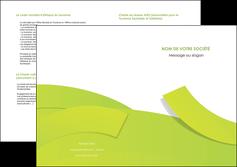 faire modele a imprimer depliant 2 volets  4 pages  espaces verts vert vert pastel colore MLGI57270