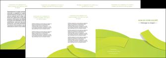 personnaliser maquette depliant 4 volets  8 pages  espaces verts vert vert pastel colore MLGI57272