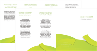 impression depliant 4 volets  8 pages  espaces verts vert vert pastel colore MLIG57276