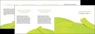 creer modele en ligne depliant 4 volets  8 pages  espaces verts vert vert pastel colore MLIG57278