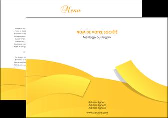 exemple set de table jaune fond colore fond jaune MLIG57334
