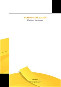personnaliser modele de affiche jaune fond colore fond jaune MIF57336