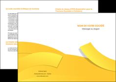 imprimerie depliant 2 volets  4 pages  jaune fond colore fond jaune MLIG57340