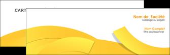 creer modele en ligne carte de visite jaune fond colore fond jaune MIF57342