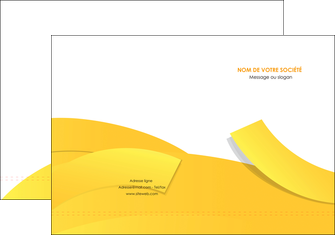 faire modele a imprimer pochette a rabat jaune fond colore fond jaune MIF57346