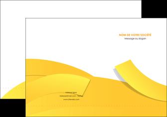 personnaliser modele de pochette a rabat jaune fond colore fond jaune MIF57348