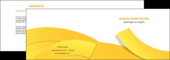 modele en ligne depliant 2 volets  4 pages  jaune fond colore fond jaune MIF57350