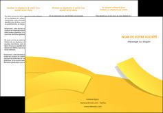 maquette en ligne a personnaliser depliant 3 volets  6 pages  jaune fond colore fond jaune MIF57360