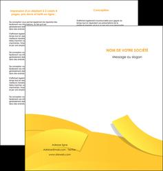 faire depliant 2 volets  4 pages  jaune fond colore fond jaune MIF57362