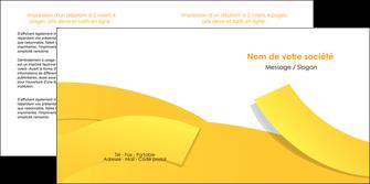 realiser depliant 2 volets  4 pages  jaune fond colore fond jaune MIF57364