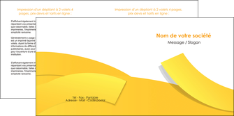 realiser depliant 2 volets  4 pages  jaune fond colore fond jaune MLIG57364