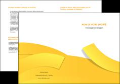 creer modele en ligne depliant 2 volets  4 pages  jaune fond colore fond jaune MIF57374