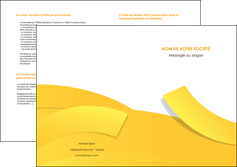 creer modele en ligne depliant 2 volets  4 pages  jaune fond colore fond jaune MLIG57374