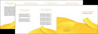 maquette en ligne a personnaliser depliant 4 volets  8 pages  jaune fond colore fond jaune MIF57376