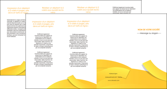 exemple depliant 4 volets  8 pages  jaune fond colore fond jaune MLIG57380