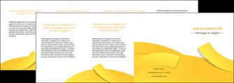 impression depliant 4 volets  8 pages  jaune fond colore fond jaune MIF57382