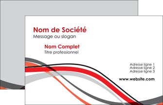 Realiser Carte De Visite Web Design Gris Rouge Fond MLGI57428