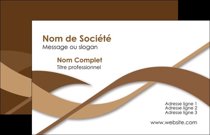 Exemple Carte De Visite Marron Brun Branche MLGI57480