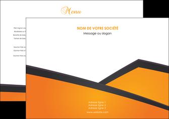 creation graphique en ligne set de table orange fond orange colore MLGI57620