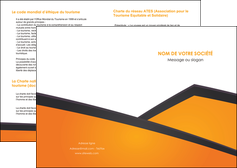 imprimer depliant 2 volets  4 pages  orange fond orange colore MLGI57626