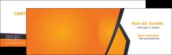 creer modele en ligne carte de visite orange fond orange colore MLGI57628