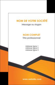 faire modele a imprimer carte de visite orange fond orange colore MLGI57630