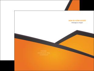 creer modele en ligne pochette a rabat orange fond orange colore MLGI57632