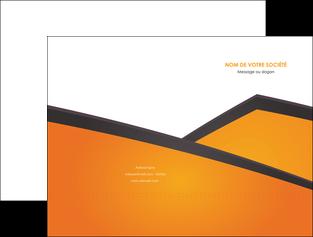 modele pochette a rabat orange fond orange colore MLGI57634