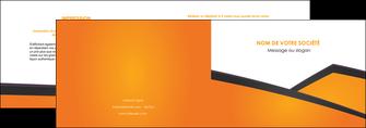 cree depliant 2 volets  4 pages  orange fond orange colore MLGI57636