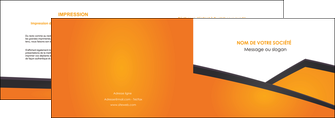 cree depliant 2 volets  4 pages  orange fond orange colore MLGI57638