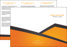 impression depliant 3 volets  6 pages  orange fond orange colore MLGI57646