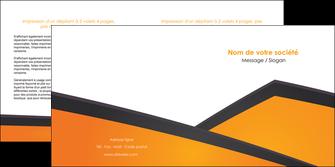 imprimer depliant 2 volets  4 pages  orange fond orange colore MLGI57650