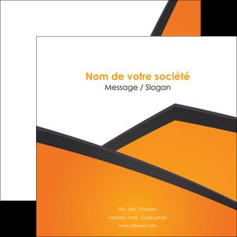 imprimer flyers orange fond orange colore MLGI57652