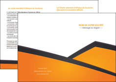 imprimerie depliant 2 volets  4 pages  orange fond orange colore MLGI57660