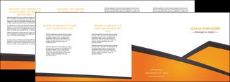 imprimer depliant 4 volets  8 pages  orange fond orange colore MLGI57664