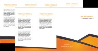 personnaliser maquette depliant 4 volets  8 pages  orange fond orange colore MLGI57668