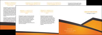 personnaliser modele de depliant 4 volets  8 pages  orange fond orange colore MLGI57670