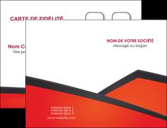 modele carte de visite orange rouge orange colore MIF57742