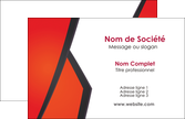 faire modele a imprimer carte de visite orange rouge orange colore MLGI57744