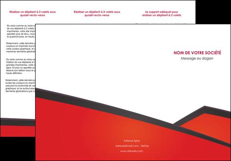 modele en ligne depliant 3 volets  6 pages  orange rouge orange colore MIS57760