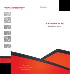 personnaliser modele de depliant 2 volets  4 pages  orange rouge orange colore MIF57762