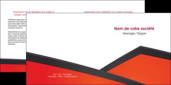 maquette en ligne a personnaliser depliant 2 volets  4 pages  orange rouge orange colore MIF57764