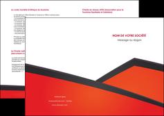 faire modele a imprimer depliant 2 volets  4 pages  orange rouge orange colore MIF57774