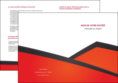 faire modele a imprimer depliant 2 volets  4 pages  orange rouge orange colore MLIG57774