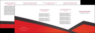 faire modele a imprimer depliant 4 volets  8 pages  orange rouge orange colore MIF57776