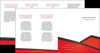 faire modele a imprimer depliant 4 volets  8 pages  orange rouge orange colore MIF57780