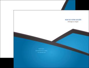 impression pochette a rabat bleu fond bleu couleurs froides MLIG57858